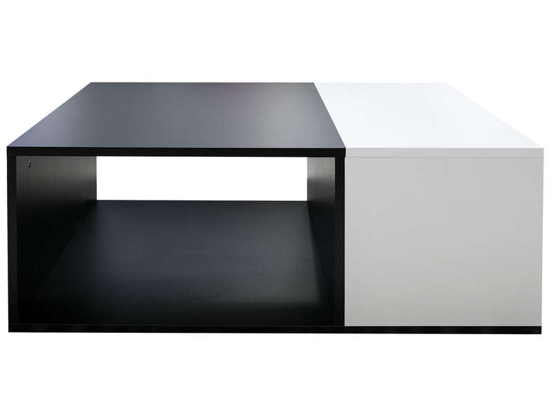 table basse rectangulaire kub coloris noir blanc vente de table basse conforama. Black Bedroom Furniture Sets. Home Design Ideas