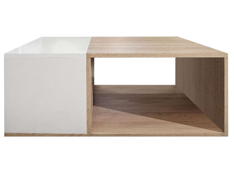 table basse rectangulaire kub coloris ch ne blanc vente. Black Bedroom Furniture Sets. Home Design Ideas