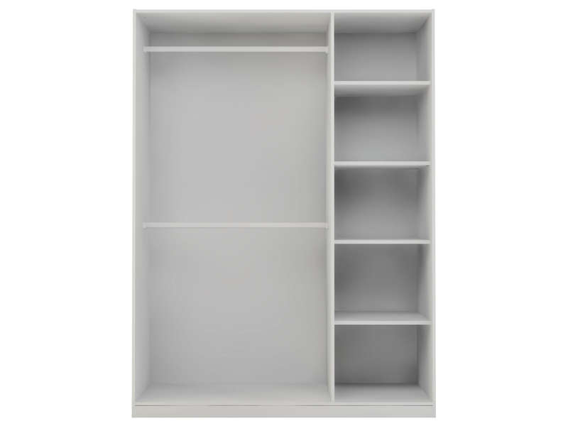 caisse d 39 armoire 3 portes twist coloris blanc vente de. Black Bedroom Furniture Sets. Home Design Ideas