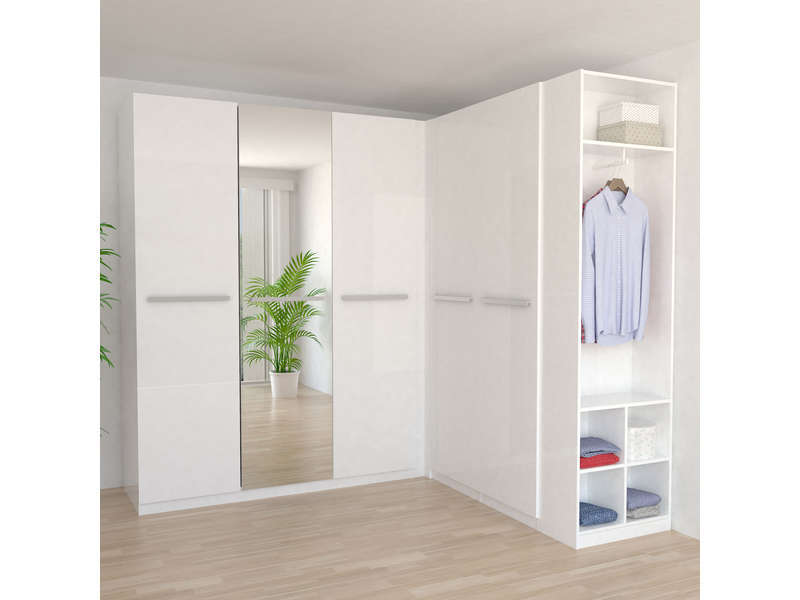 caisse d 39 angle 1 porte twist coloris blanc vente de armoire conforama. Black Bedroom Furniture Sets. Home Design Ideas