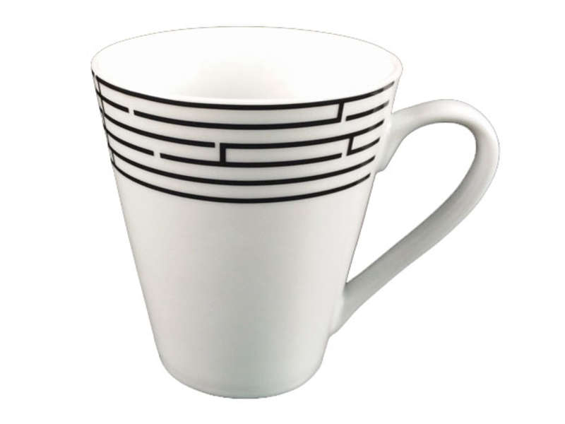 Mug porcelaine labyrinthe chez conforama for Mug isotherme micro ondable