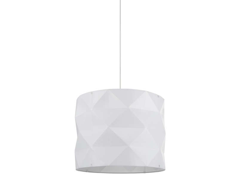Suspension novak su coloris blanc vente de luminaire for Suspension chambre