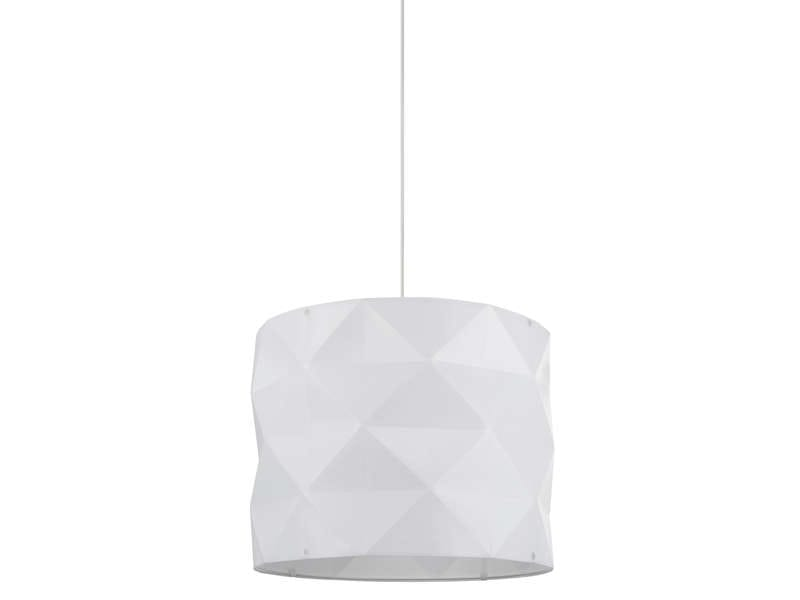 Suspension novak su coloris blanc vente de luminaire for Lampe suspension pas cher