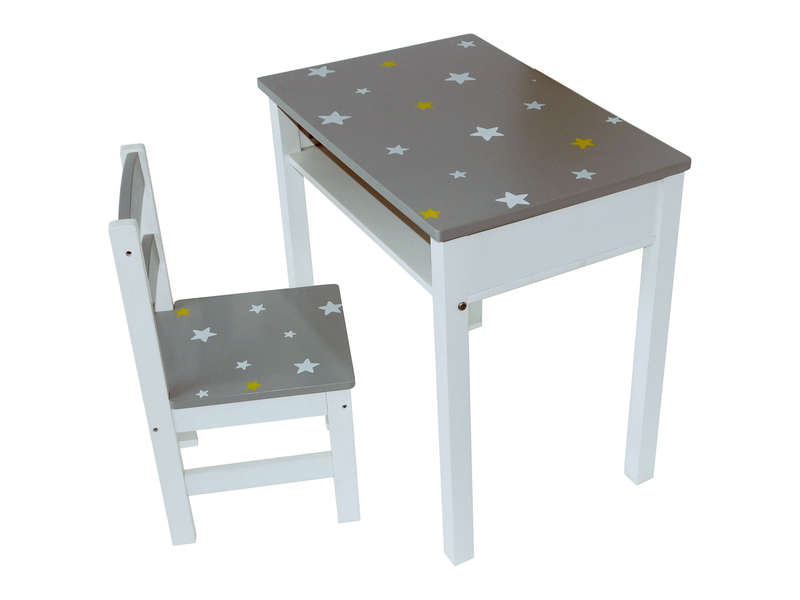 set de bureau enfant chaise stars vente de petit rangement enfant conforama. Black Bedroom Furniture Sets. Home Design Ideas