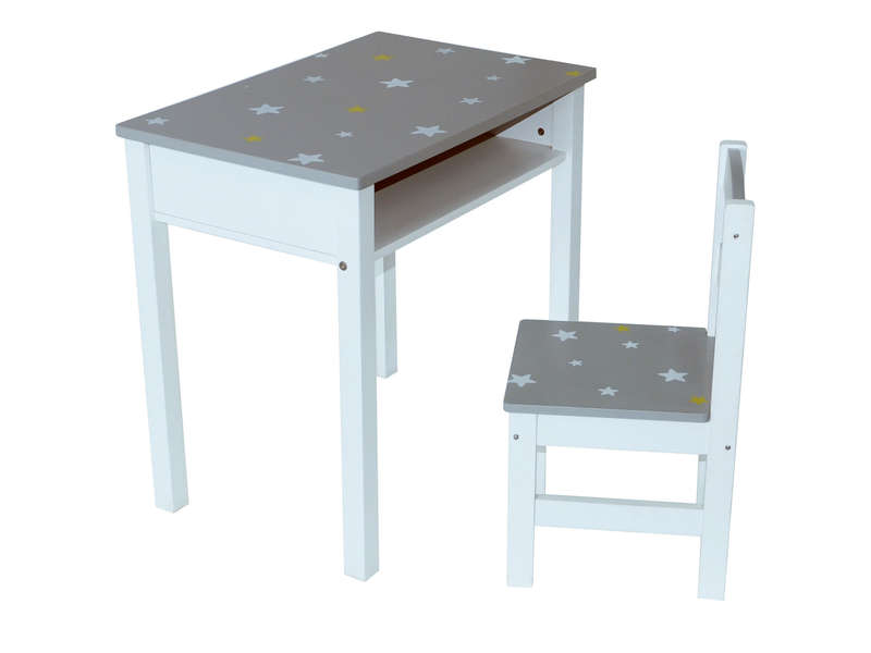 Set de bureau enfant chaise stars vente de petit for Set de bureau fantaisie