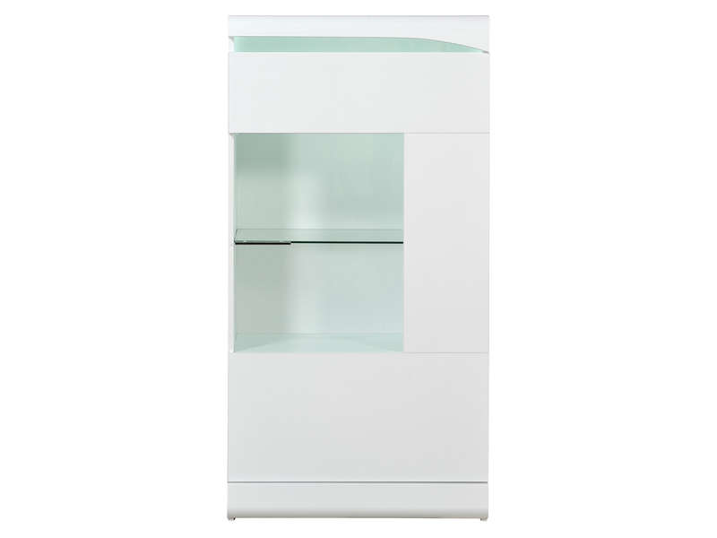 Colonne 1 porte ovio coloris blanc laqu vente de buffet for Buffet blanc laque conforama