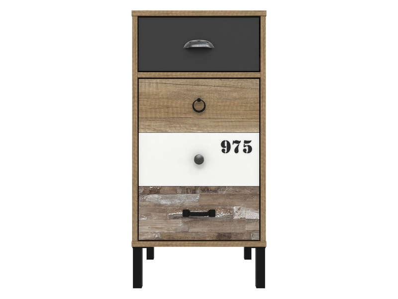 rangement 1 porte 1 tiroir oldy vente de buffet bahut vaisselier conforama. Black Bedroom Furniture Sets. Home Design Ideas
