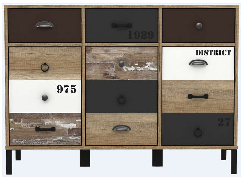 rangement 3 portes 3 tiroirs oldy vente de buffet bahut. Black Bedroom Furniture Sets. Home Design Ideas