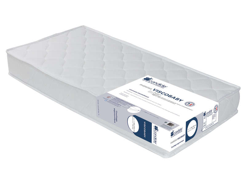 matelas mousse 70x140 cm candide viscobaby vente de matelas 2 personnes conforama. Black Bedroom Furniture Sets. Home Design Ideas