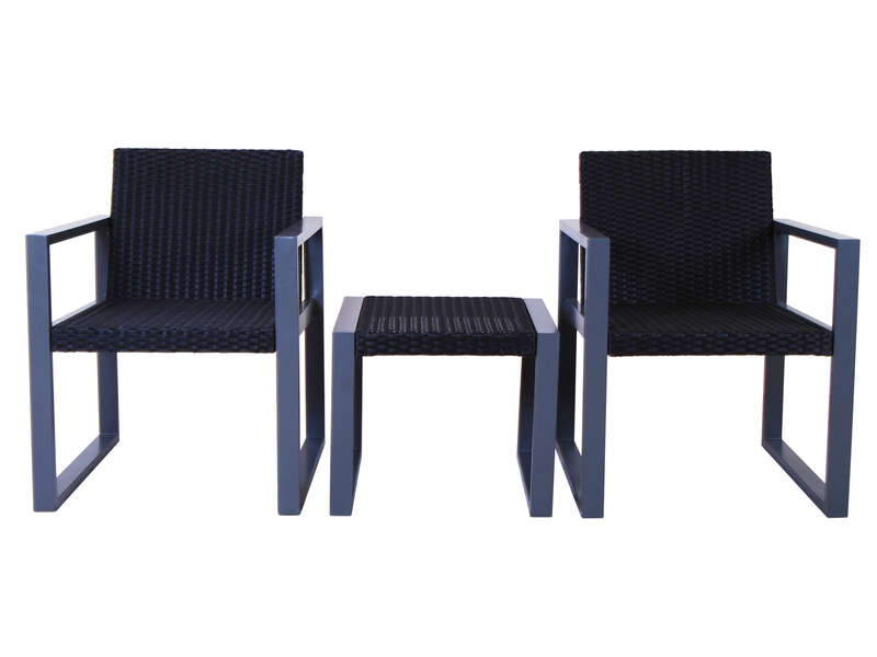 ensemble table et chaises set faro vente de salon de jardin conforama. Black Bedroom Furniture Sets. Home Design Ideas