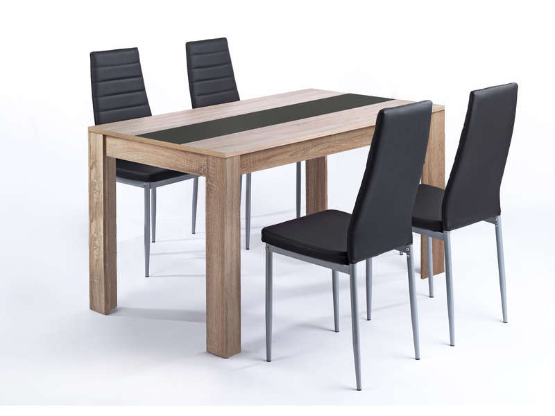 Ensemble table et 4 chaises pegasus vente de ensemble table et chaise conforama for Ensemble table extensible et chaise