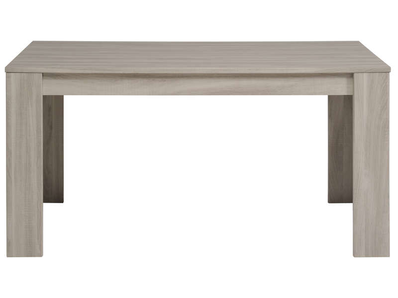 Table rectangulaire 160 cm allonge en option warren for Tables salle a manger conforama
