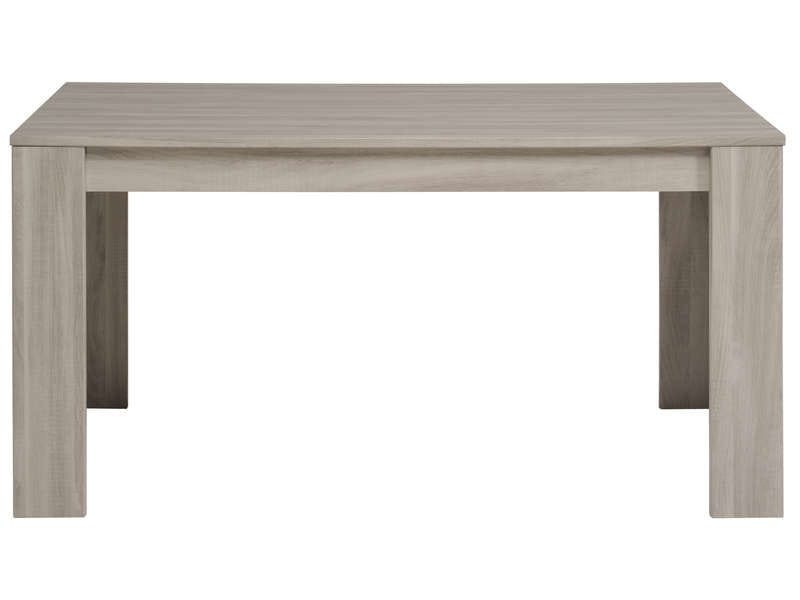 Table rectangulaire 160 cm allonge en option warren for Table de salle a manger conforama