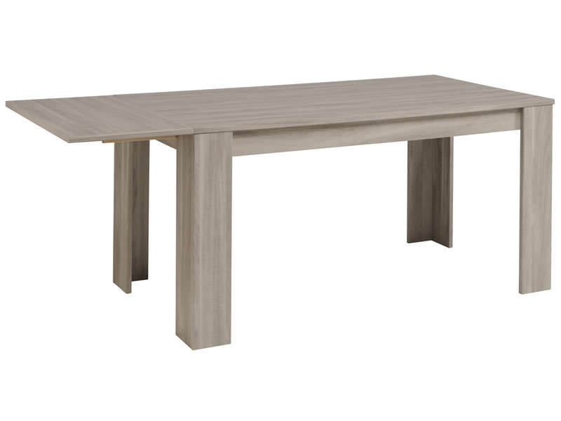 Table rectangulaire 160 cm allonge en option warren for Miroir warren silex