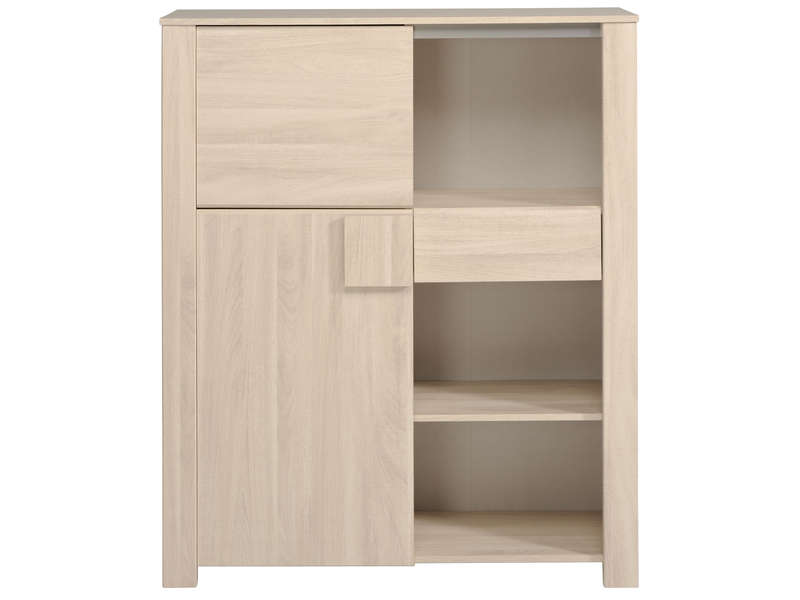 Conforama bahut buffet ovio coloris blanc laqu conforama for Salle a manger warren