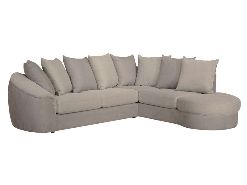 canap dangle fixe droit 5 places en tissu boreal coloris gris taupe vente de canap dangle conforama