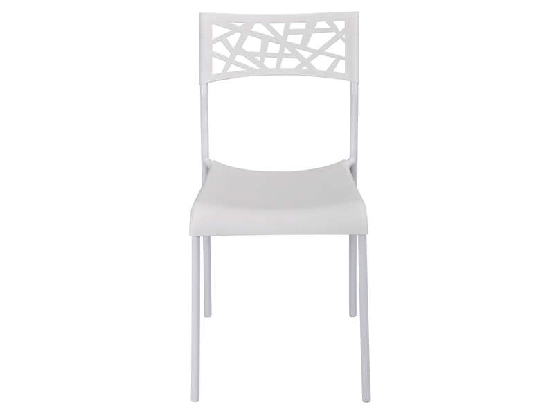 Chaise martine coloris blanc vente de chaise conforama for Chaise blanche conforama