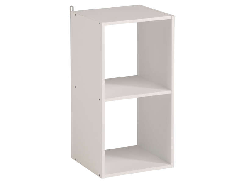 biblioth que 2 cases kubikub coloris blanc vente de. Black Bedroom Furniture Sets. Home Design Ideas