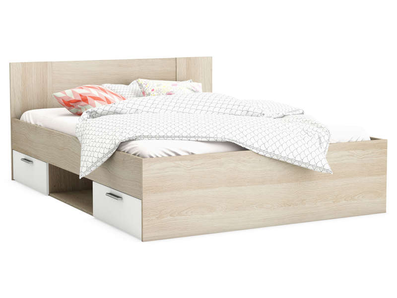 Lit adulte 140x190 cm detroit vente de lit adulte for Lit pour chambre adulte