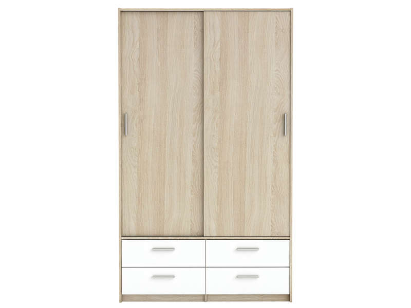armoire 2 portes 4 tiroirs detroit pas cher avis et prix en promo. Black Bedroom Furniture Sets. Home Design Ideas