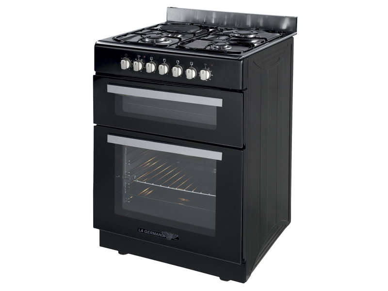 Cuisini re mixte 60 cm - Gaziniere double four ...