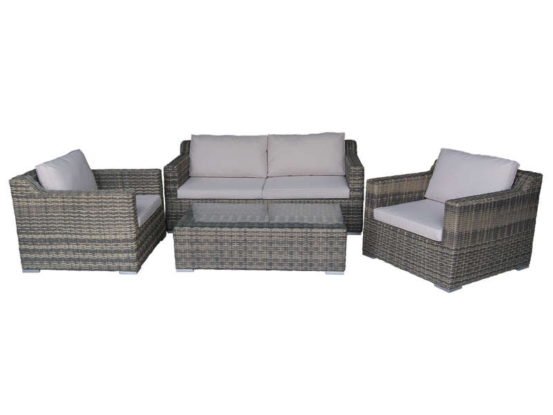 salon de jardin 1 canap 2 places 2 fauteuils 1 table. Black Bedroom Furniture Sets. Home Design Ideas