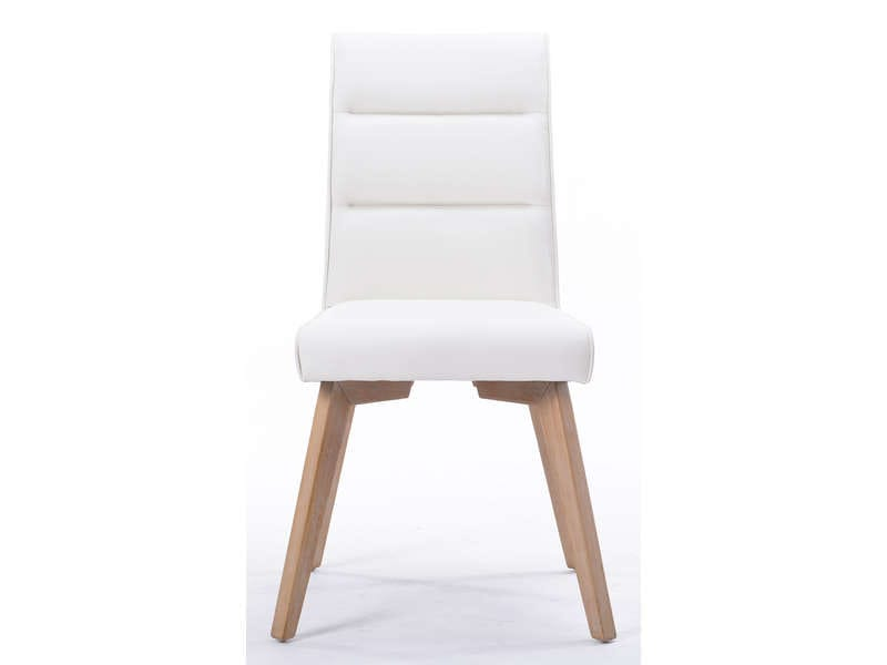 Chaise ines coloris blanc vente de chaise conforama for Chaise conforama