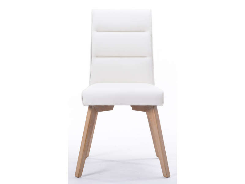 Chaise ines coloris blanc vente de chaise conforama for Chaise blanche conforama