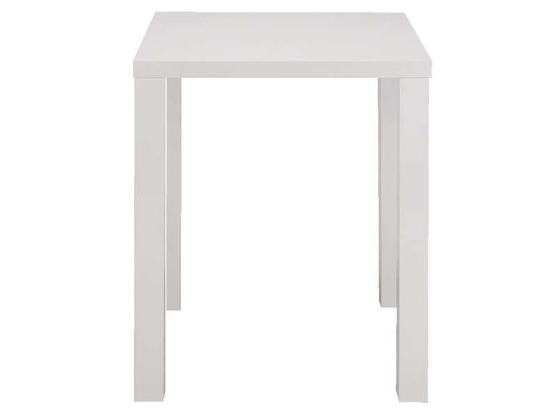 Table de bar jackie 2 coloris blanc vente de table for Table bar blanche
