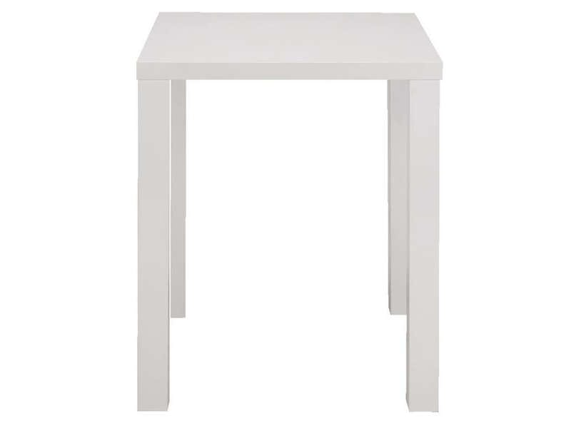 Table de bar jackie 2 coloris blanc vente de table for Petite table de cuisine conforama