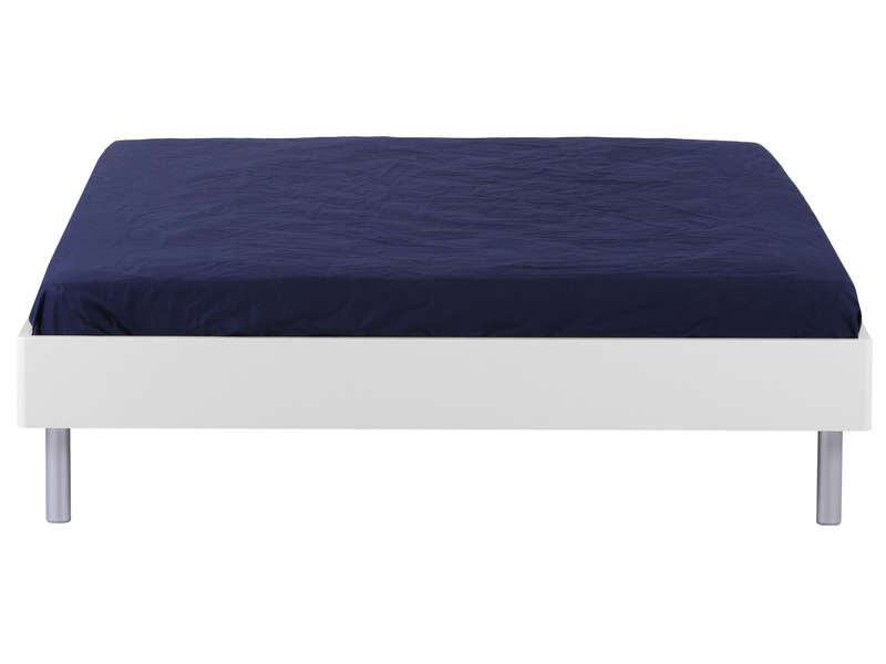 Lit Adulte X Cm EASY Coloris Blanc Vente De Lit Adulte - Tete de lit 160x200 contemporain