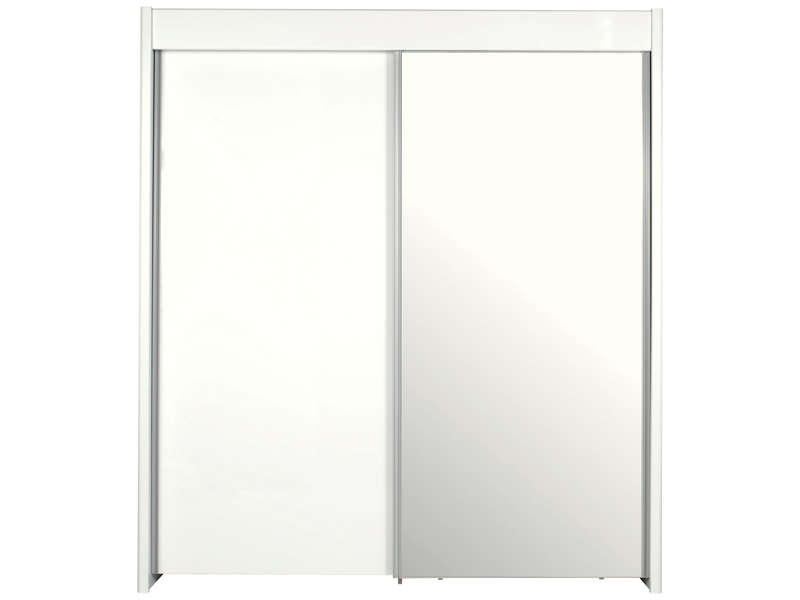 armoire 2 portes coulissantes easy 3 coloris blanc chez. Black Bedroom Furniture Sets. Home Design Ideas