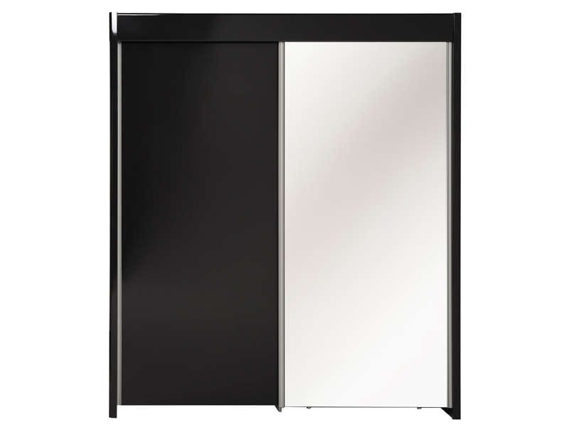armoire 2 portes coulissantes easy 3 coloris noir vente. Black Bedroom Furniture Sets. Home Design Ideas