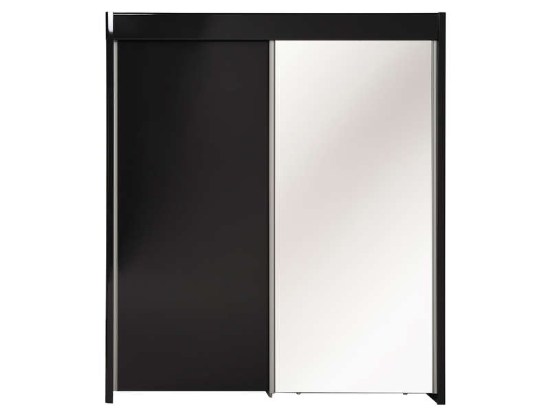 armoire 2 portes coulissantes easy 3 coloris noir vente de armoire conforama. Black Bedroom Furniture Sets. Home Design Ideas
