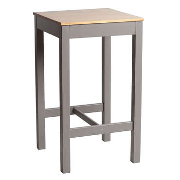 Table haute 60x60 cm bruges coloris gris ch ne vente de for Table sejour conforama