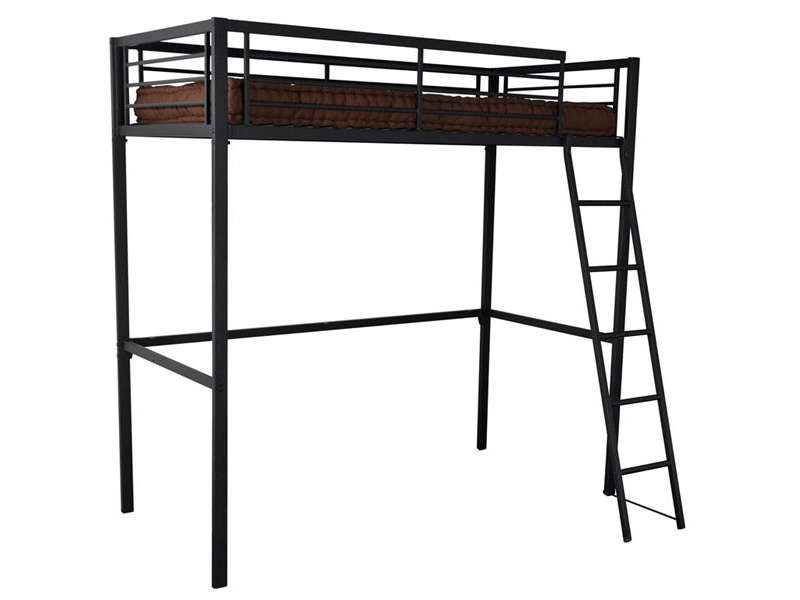 lit mezzanine 90x190 cm terri 2 coloris noir vente de lit enfant conforama. Black Bedroom Furniture Sets. Home Design Ideas