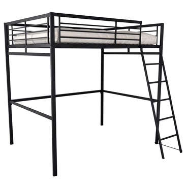 lit mezzanine 140x190 cm terri 2 coloris noir vente de. Black Bedroom Furniture Sets. Home Design Ideas