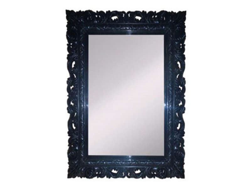 Miroir 50x65 cm so glam coloris noir vente de miroir for Miroir mural conforama