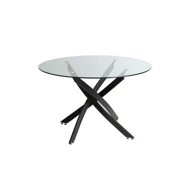 Table ronde en verre 120 cm
