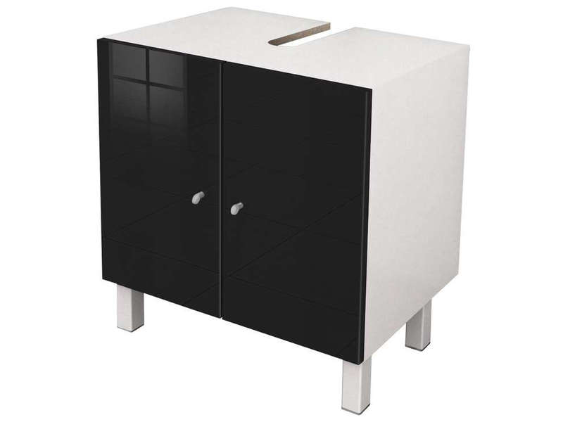 sous lavabo cm soramena coloris noir vente de. Black Bedroom Furniture Sets. Home Design Ideas