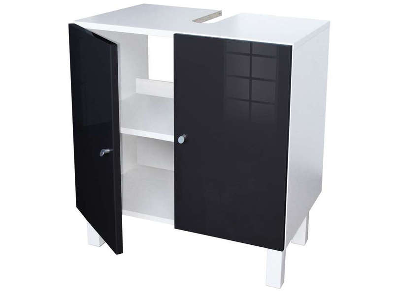 meuble sous lavabo soramena coloris noir vente de meuble et rangement conforama. Black Bedroom Furniture Sets. Home Design Ideas