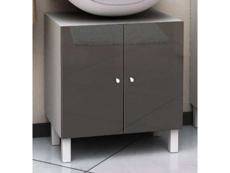 meuble sous lavabo soramena coloris gris vente de meuble. Black Bedroom Furniture Sets. Home Design Ideas