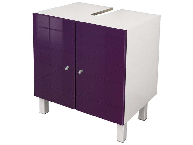 meuble sous lavabo soramena coloris aubergine vente de. Black Bedroom Furniture Sets. Home Design Ideas