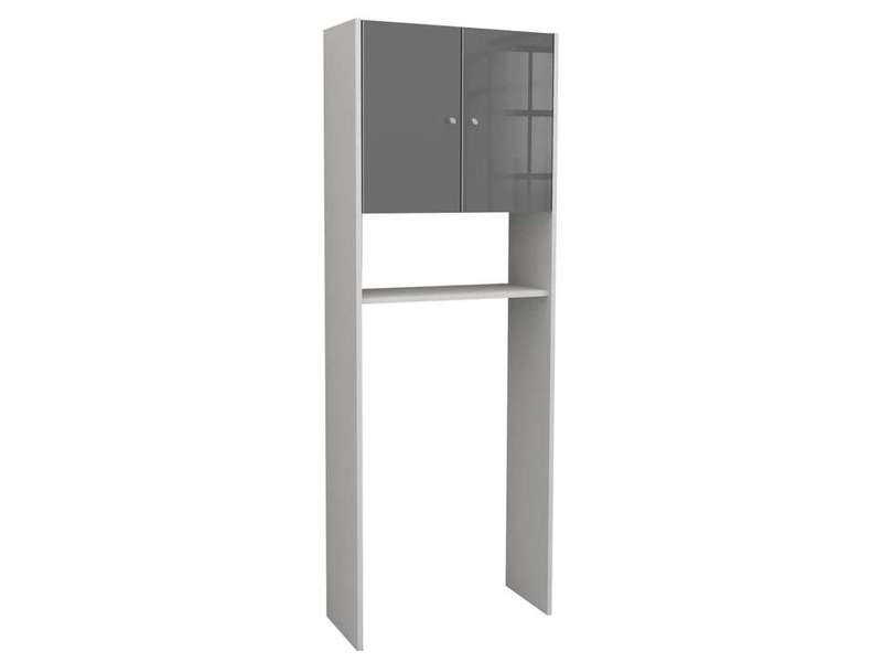 meuble de rangement wc machine laver soramena coloris gris vente de armoire colonne. Black Bedroom Furniture Sets. Home Design Ideas