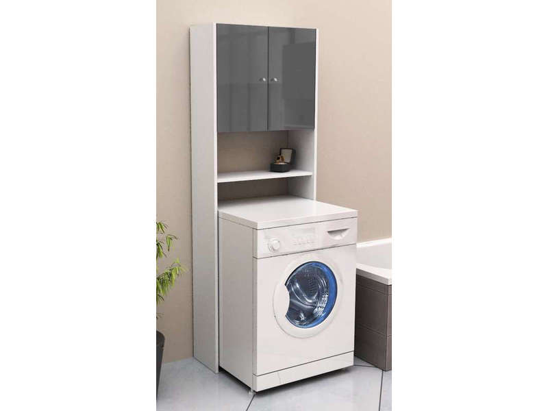 pont rangement wc machine laver soramena coloris gris vente de armoire colonne tag re. Black Bedroom Furniture Sets. Home Design Ideas