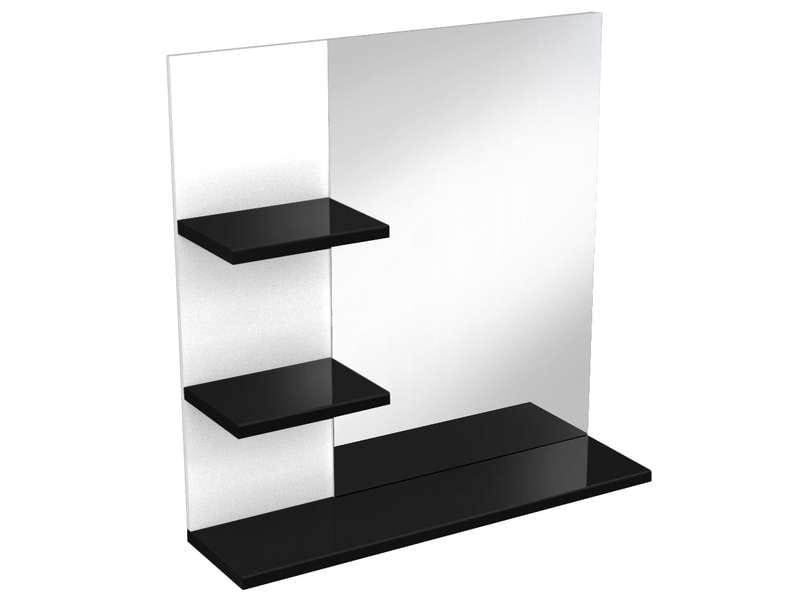 miroir de salle de bain soramena coloris noir vente de miroir de salle de bain conforama. Black Bedroom Furniture Sets. Home Design Ideas