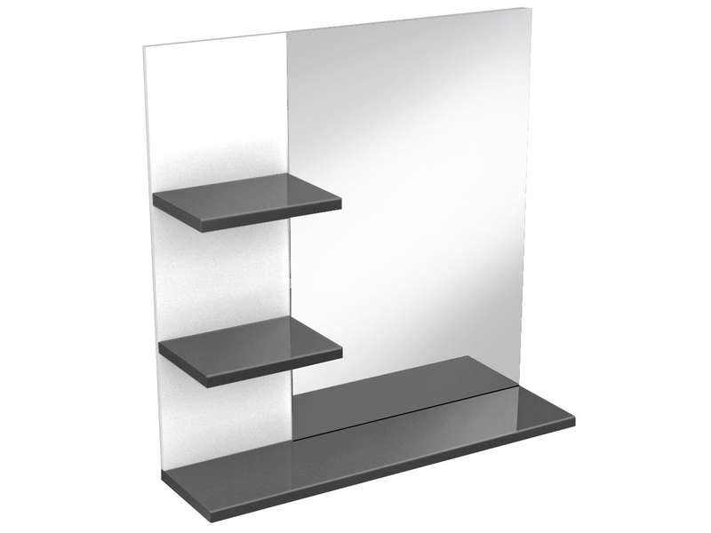 miroir de salle de bain soramena coloris gris vente de. Black Bedroom Furniture Sets. Home Design Ideas