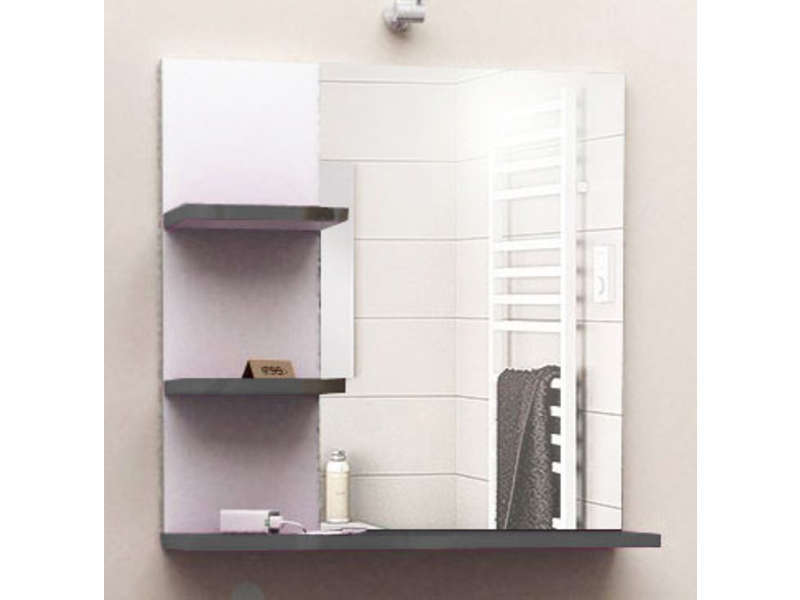 miroir de salle de bain soramena coloris gris vente de miroir de salle de bain conforama. Black Bedroom Furniture Sets. Home Design Ideas