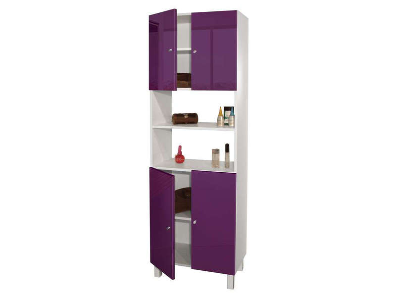 colonne salle de bain cm soramena coloris aubergine vente de armoire colonne tag re. Black Bedroom Furniture Sets. Home Design Ideas