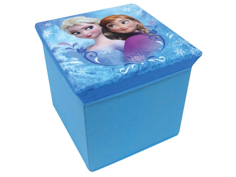 pouf de rangement reine des neiges vente de petit rangement enfant conforama. Black Bedroom Furniture Sets. Home Design Ideas